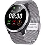 QKa Smart Watch mit Blutdruck-Herzfrequenzmessgerät und ...