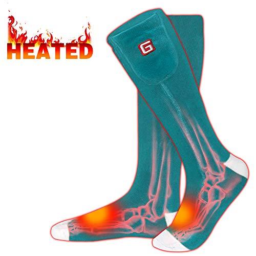 Rabbitroom Electric Heated Socks (Green-White)