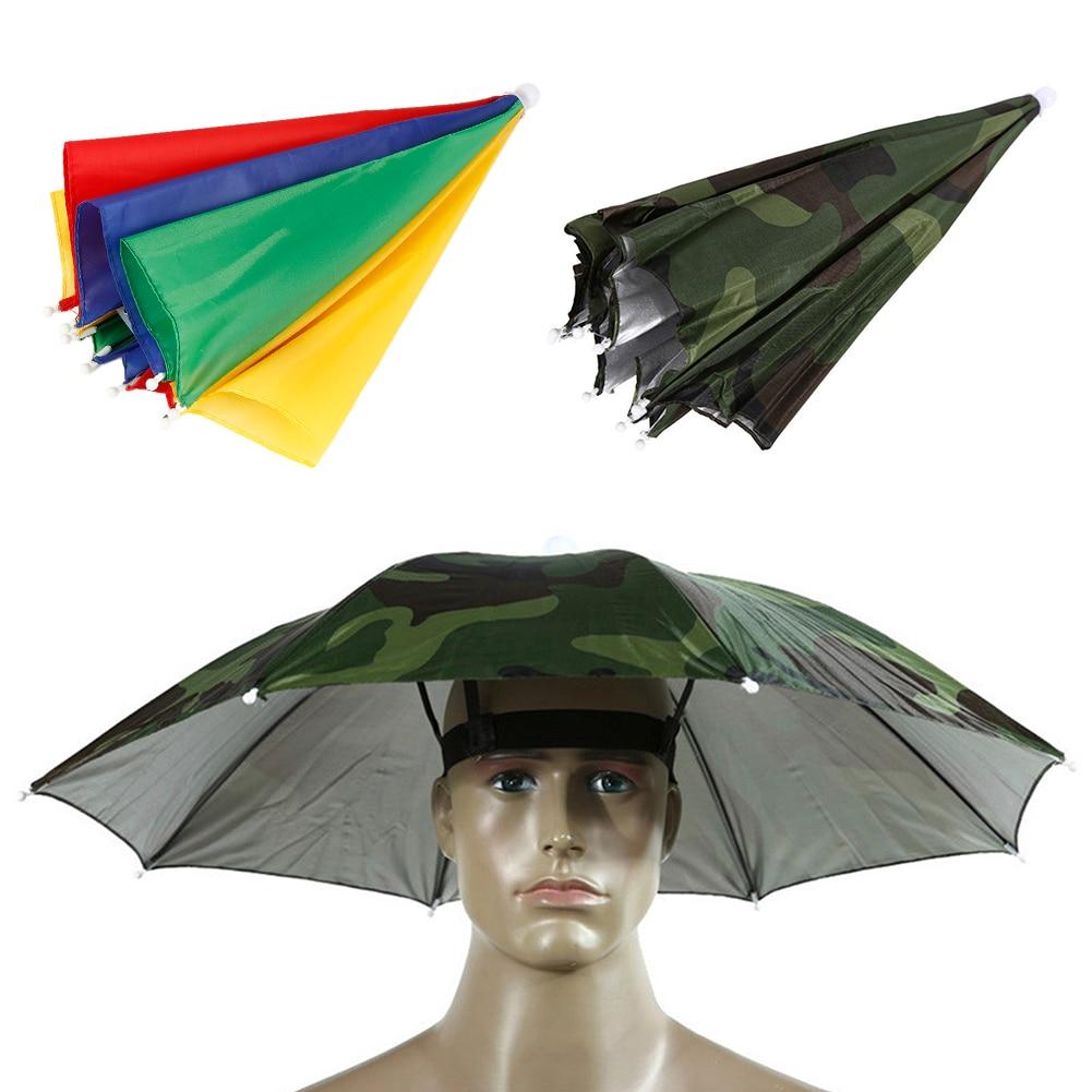 Rainbow Umbrella Hat for Fishing Hiking - Cool Health Gadgets