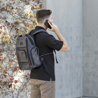 Super Rare TYLT Traveler Power Bag Backpack with Battery Gray Durable Pass-throu