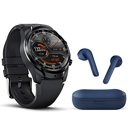 Ticwatch Pro 4G LTE + Blue TicPods 2 Bundle