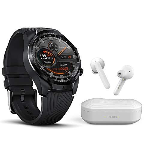Ticwatch Pro 4G LTE + White TicPods Bundle