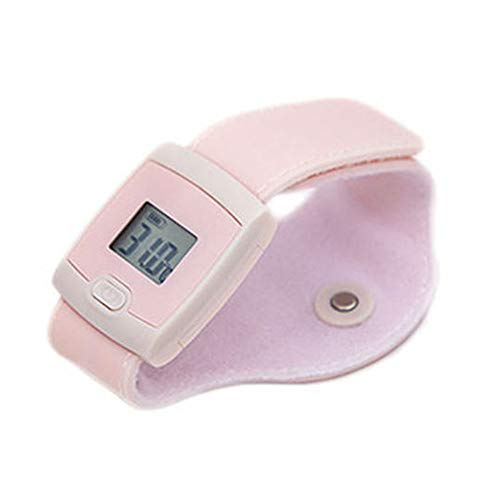 Tlyd Bluetooth Thermometer Smart Wearable Thermometer for Children and Baby Smart Phone APP with Temperature Alarm + Continuous Monitoring Function Real-Time Monitoring Fever and Cold,Pink
