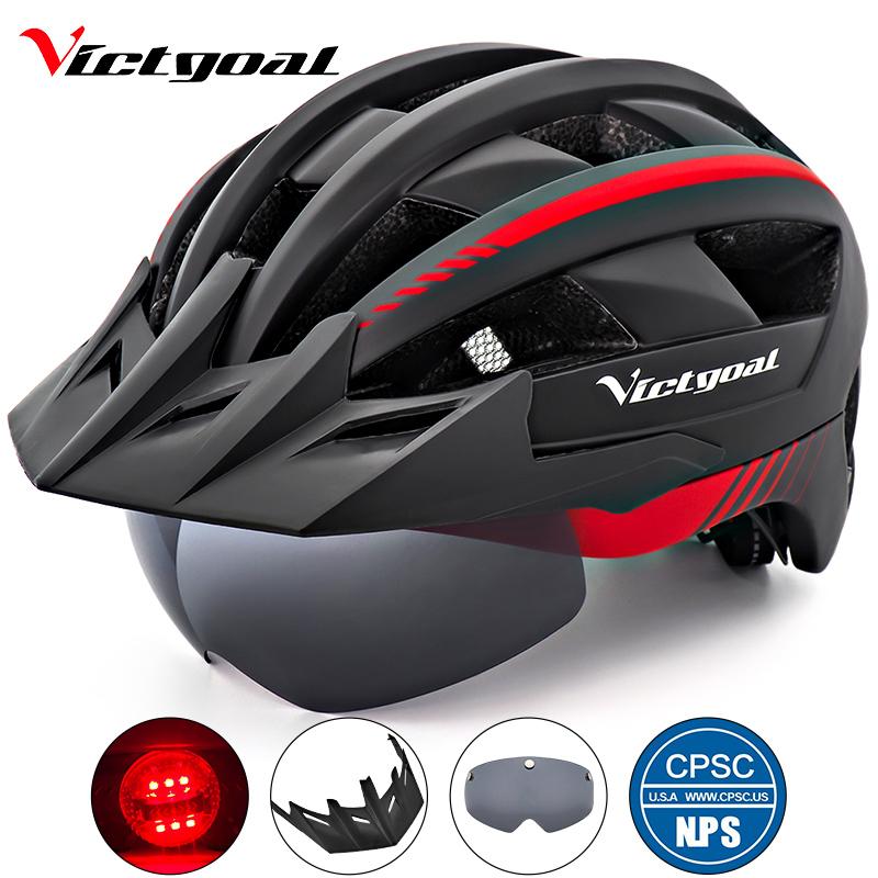 VICTGOAL Bike Helmet LED Light Adult Men Women Bicycle ...