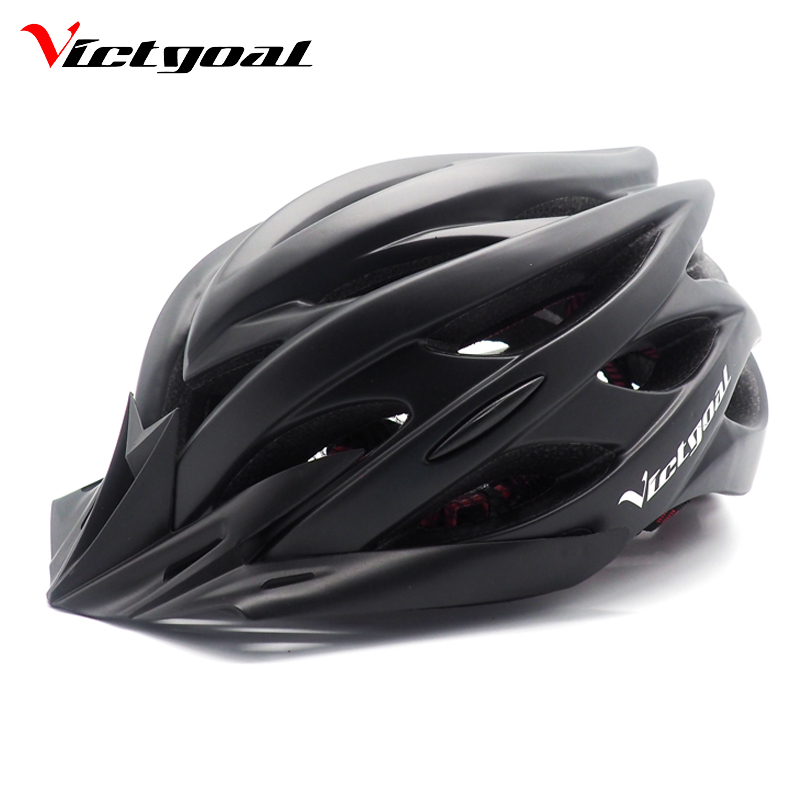 VICTGOAL Matte Black Bicycle Helmets Men Women Ultralight ...
