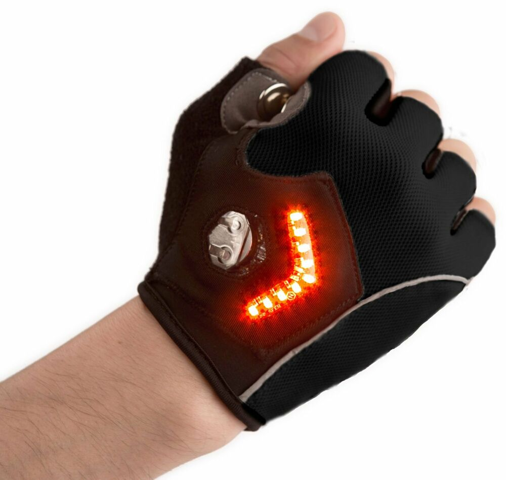 Zackees LED Turn Signal Bike Lights In a Cycling Gloves ...