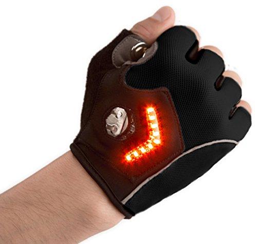 Zackees LED Turn Signal Gloves, Black, XLarge