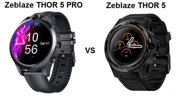 Zeblaze THOR 5 Pro Vs Zeblaze THOR 5 Smartwatch - Chinese ...