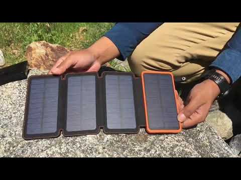25000mAh Solar Charger ADDTOP Portable Solar Power Bank ...