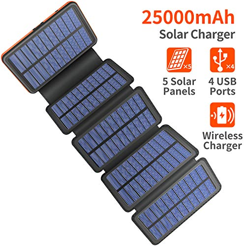 25000mAh Solar Charger - Black