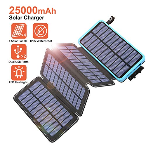 25000mAh Solar Charger - Blue