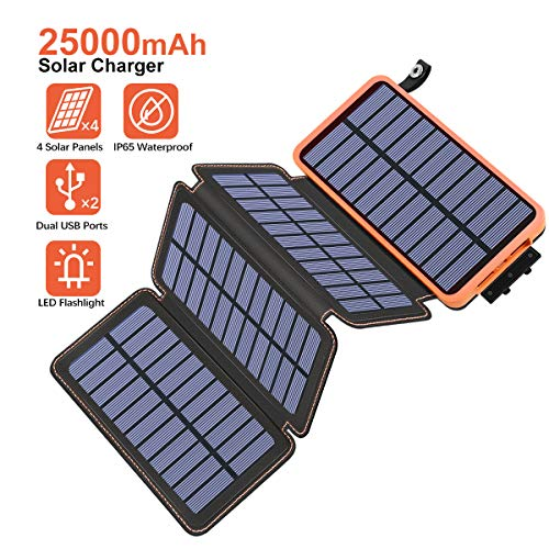 25000mAh Solar Charger - Orange