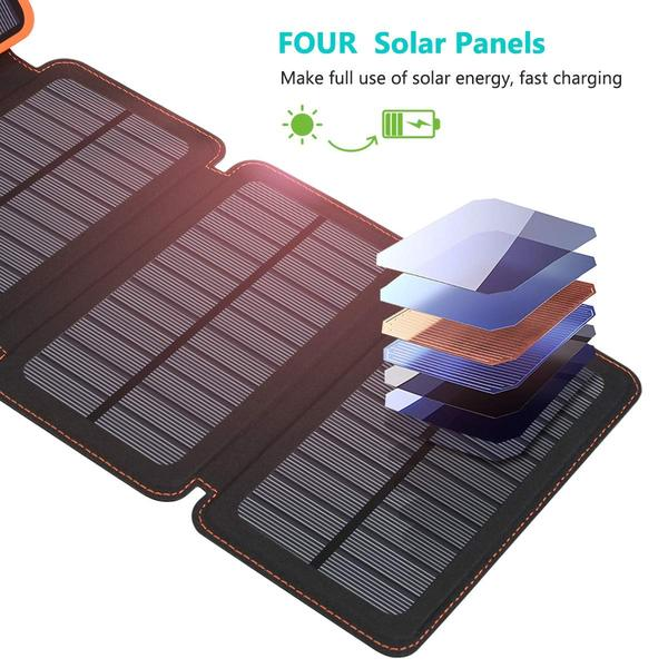 25000mAh Solar Charger Portable Solar Power Bank ...