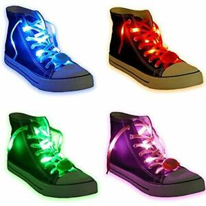 """6 Pair LED Shoelaces - High Visibility Soft Nylon Light Up With 3 Modes In For """" 