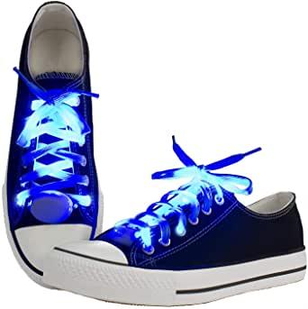 Amazon.com: LKDEPO LED Shoelaces Light Up Nylon Shoe Laces with 3 Flashing Modes Lighting the ...