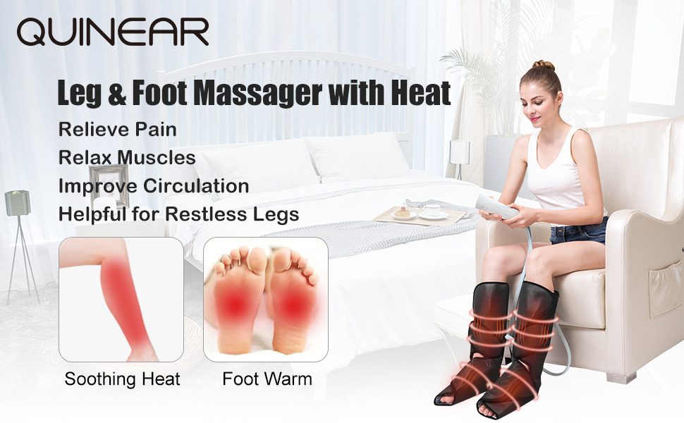 Quinear Leg Massager with Heat