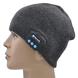 Amazon.com: XIKEZAN Bluetooth Beanie Hat Wireless Washable ...