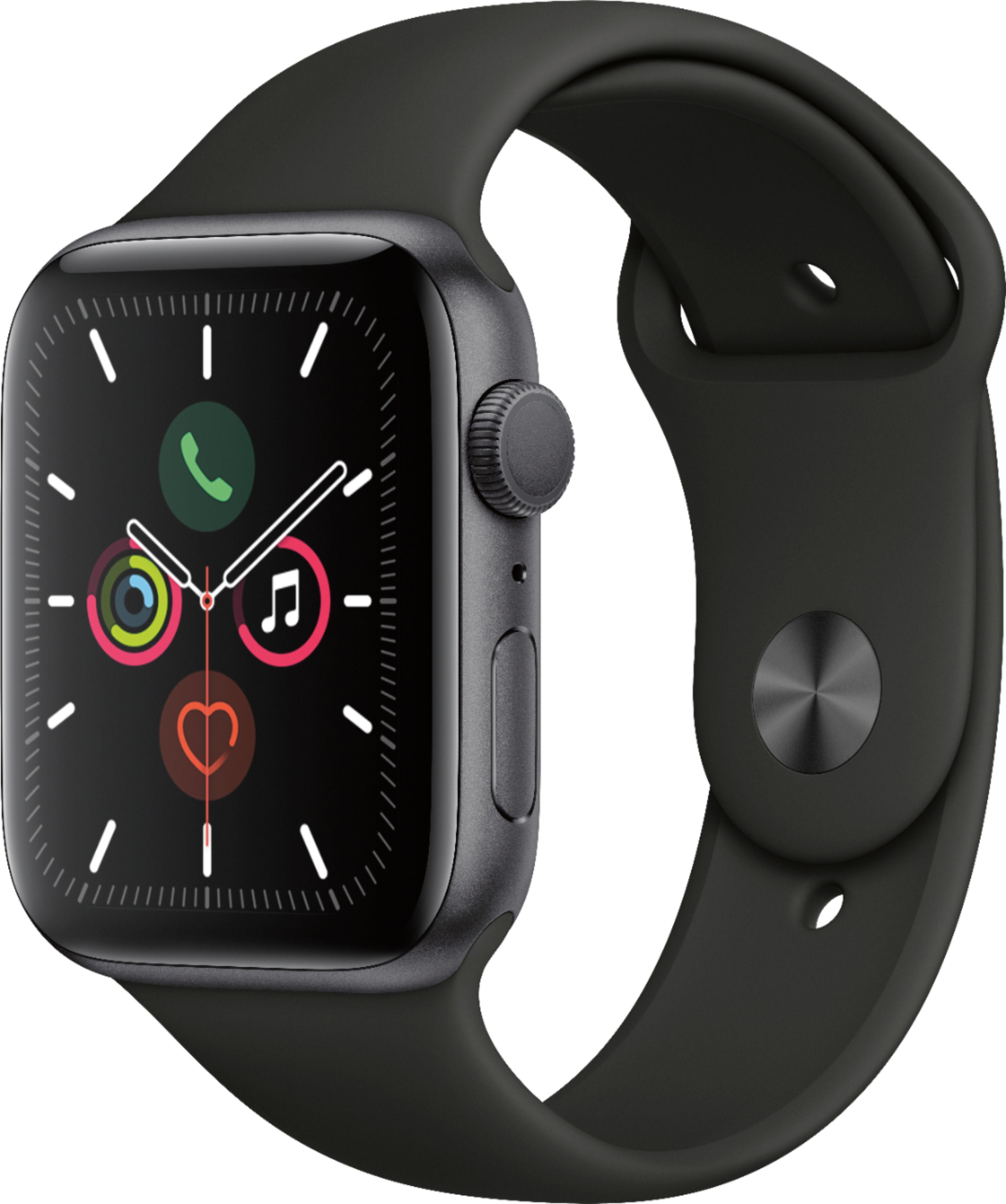 Apple Apple Watch Series 5 (GPS) 44mm Space Gray Aluminum ...