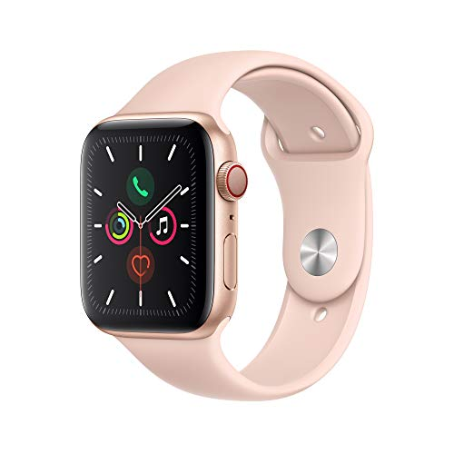 Apple Watch Series 5 - Gold Aluminum Case with Pink Sport Band