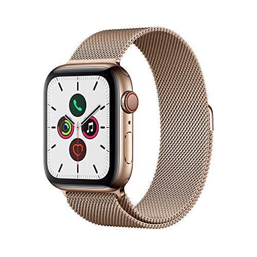 Apple Watch Series 5 - Gold Stainless Steel Case with Gold Milanese Loop