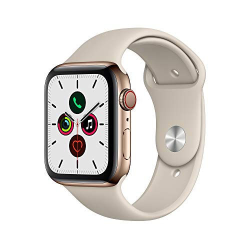 Apple Watch Series 5 - Gold Stainless Steel Case with Stone Sport Band