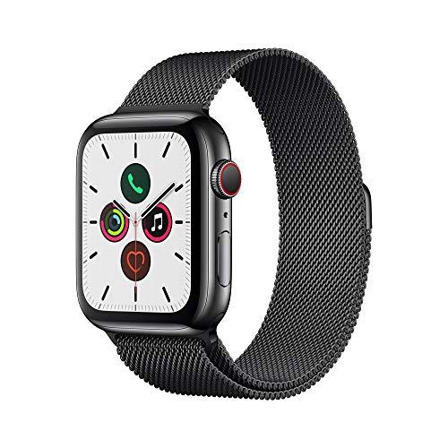 Apple Watch Series 5 - Space Black Stainless Steel Case with Black Milanese Loop
