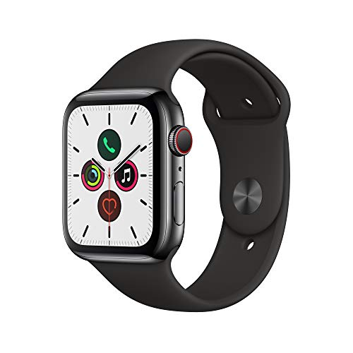 Apple Watch Series 5 - Space Black Stainless Steel Case with Black Sport Band