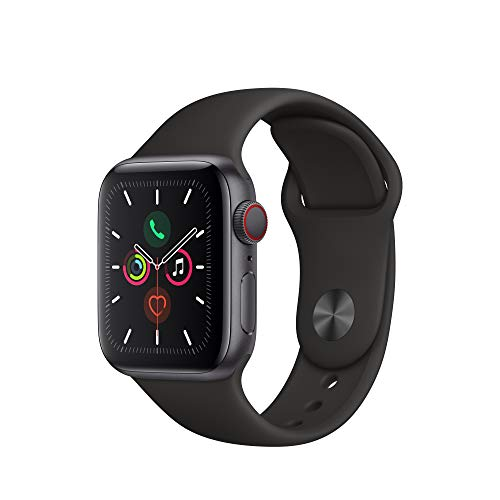 Apple Watch Series 5 - Space Gray Aluminum Case with Black Sport Band