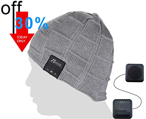 Bluetooth Beanie Music Hat - Light Grey