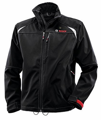 Bosch Men's 12-Volt Max Lithium-Ion Soft Shell Heated Jacket Kit with 2.0Ah Battery, Charger and Holster PSJ120S-102