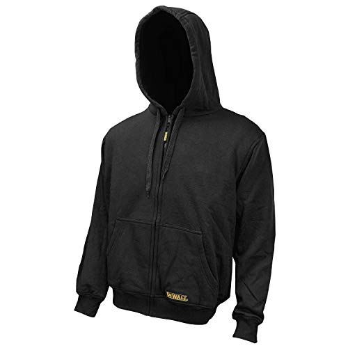 DEWALT DCHJ067B-L 20V/12V MAX Bare Hooded Heated Jacket, Black, Large