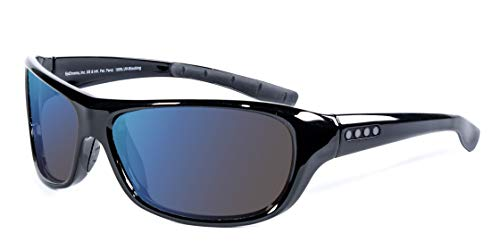 EnChroma Color Blind Glasses - Monterey Black Wrap Sunglasses - Outdoor Cx3 Outdoor Lens - Ideal For Red-Green Color Blindness