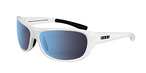 EnChroma Color Blind Glasses - Monterey White Wrap Sunglasses - Outdoor Cx3 Outdoor Lens - Ideal For Red-Green Color Blindness