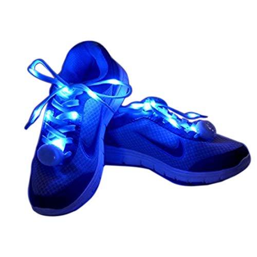 Flammi LED Nylon Light Up Shoelaces - BLUE