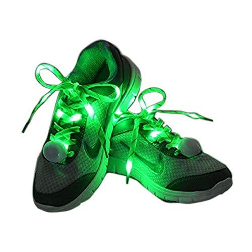 Flammi LED Nylon Light Up Shoelaces - GREEN
