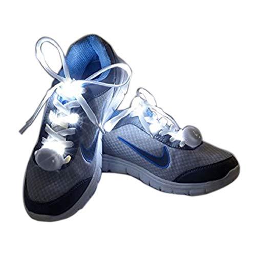 Flammi LED Nylon Light Up Shoelaces - WHITE
