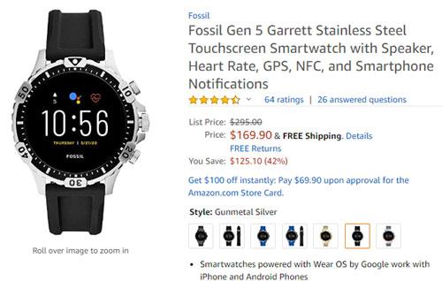 Fossil Gen 5 Garrett 減價低至 US$169.90 | Android-APK