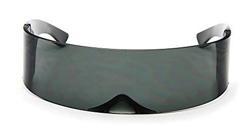 Futuristic Cyclops Sunglasses - BLACK