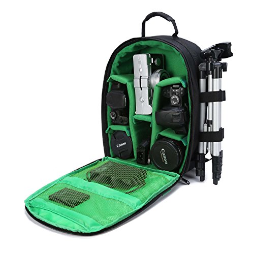 G-raphy Camera Bag for Camera, Lens, Tripod and Accessories (Small Size) - GREEN