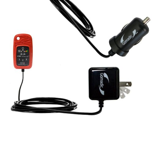 Gomadic Car and Wall Charger Essential Kit suitable for the Briartek Cerberus CerberLink - Includes both AC Wall and DC Car Charging Options with TipExchange