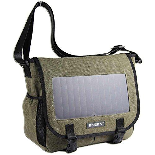 HANERGY Alternative - ECEEN Solar Message Bag Single Shoulder Pack with 7 Watts Solar Panel