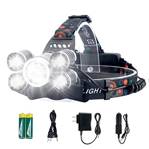 Headlamp Rechargeable LED Headlight 4 Modes