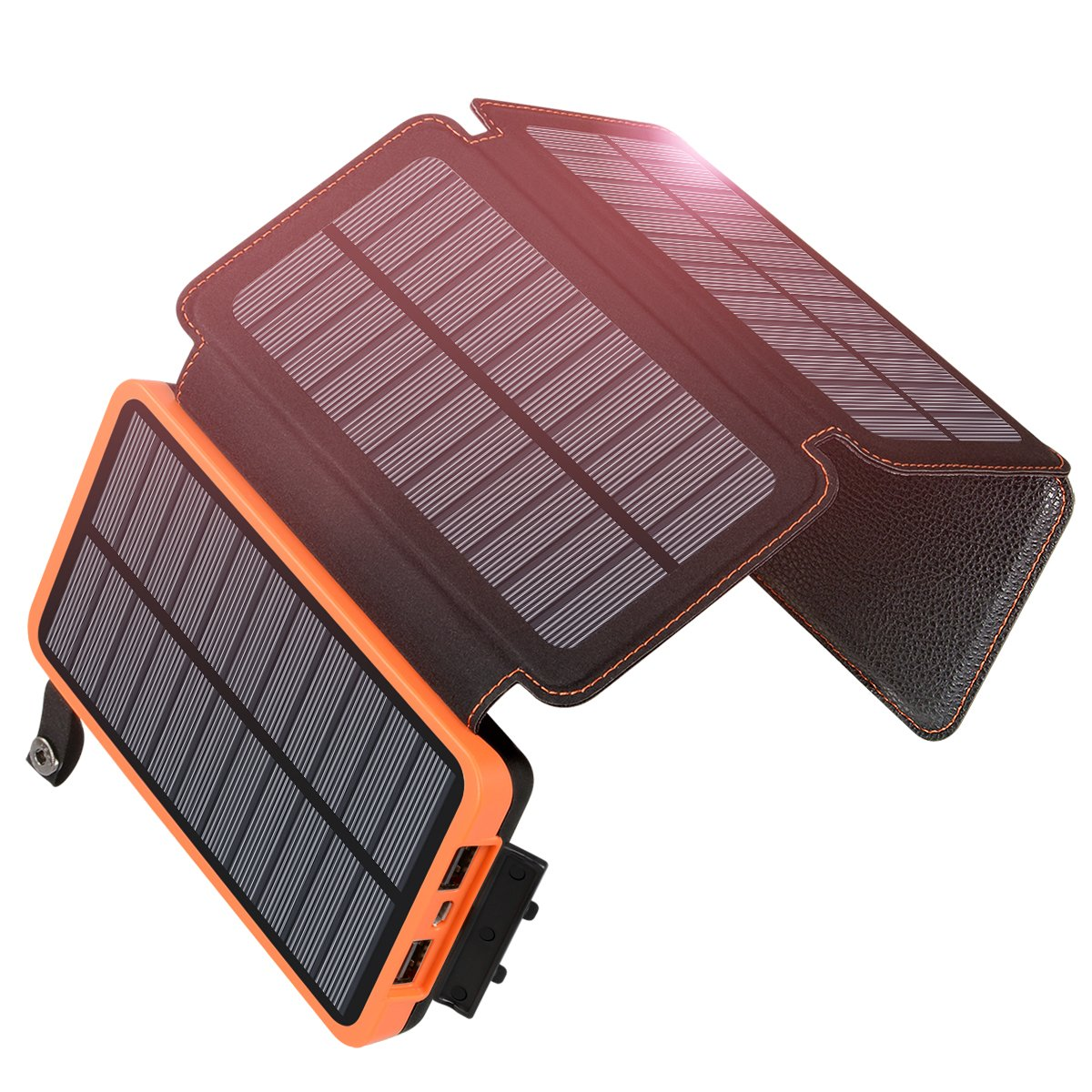 Hiluckey Solar Charger 25000mAh Solar Power Bank ...