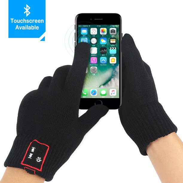 Jeobest Bluetooth Gloves - Wireless Bluetooth Gloves - Bluetooth Touch Screen Gloves - Winter Gloves Touch Screen with Built-in Speakers & Microphone for Music and Phone Calling