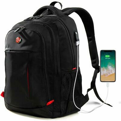 Laptop Backpack, Travel Waterproof Computer Bag with USB Charging Port Fits 15.6