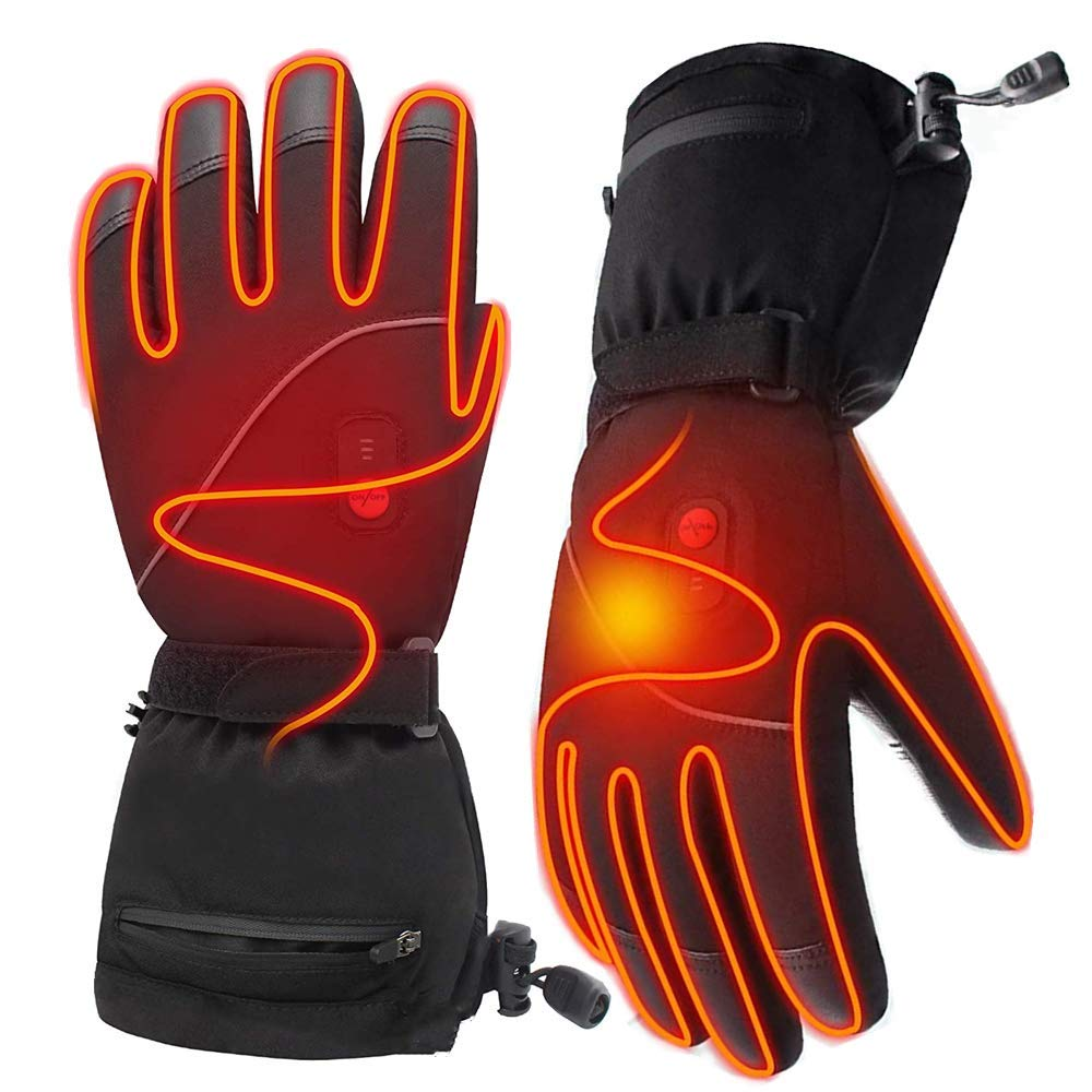Leather Tipped Heated Gloves