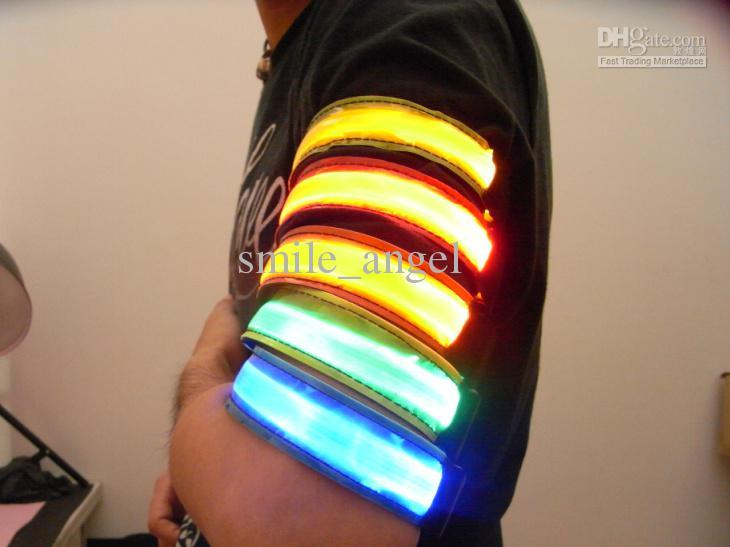 LED Armbands Night Run Walk Cycling Safety Bracelets ...