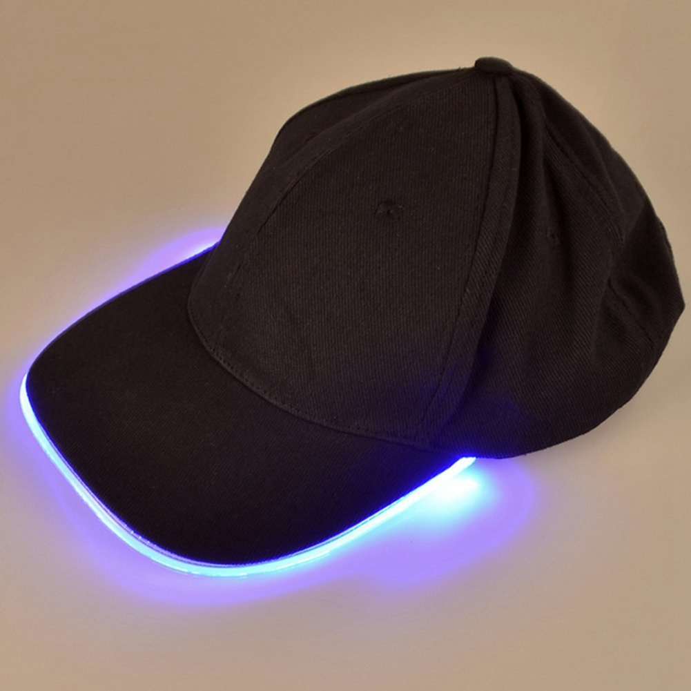 LED Lighted up Cap Glow Club Party Baseball Hip-Hop Golf ...