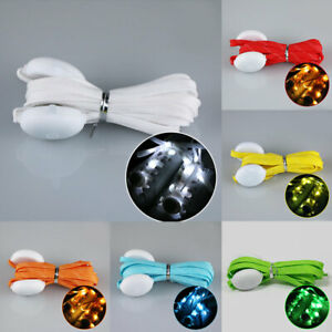 LED Strap Shoelaces Flashing Shoe Laces Luminous Glow Disco Party Nylon | eBay