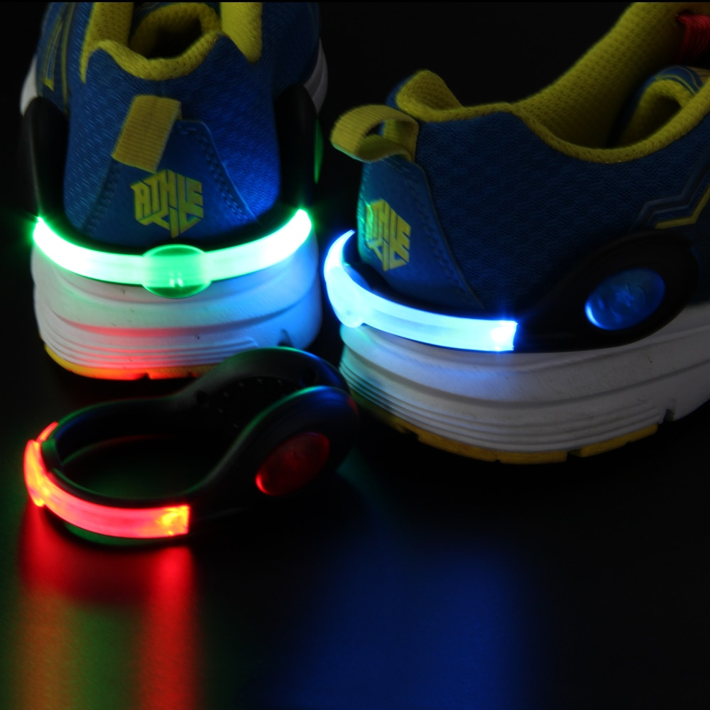 LED warning light clip Colorful flashing shoe clip for ...